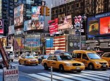 Vue sur Broadway lors d'une visite de la ville de New York