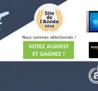 Votez pour Algofly site de l'année 2016 et gagnez de superbes cadeaux !