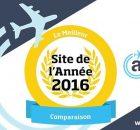 Prix reçu par Algofly élu le meilleur site de l'année 2016 dans la catégorie Comparaison.