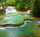 Les cascades à la couleur bleu turquoise de Kuang Zi, au Laos